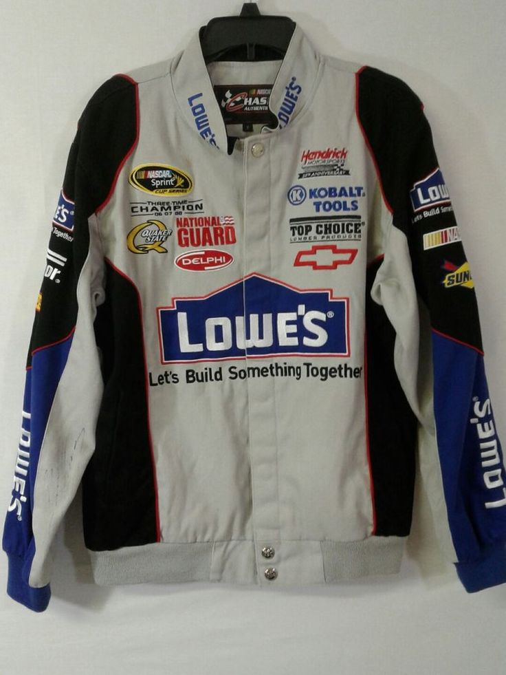 Jimmy Johnson Autographed Jacket Lowes NASCAR Sz Small