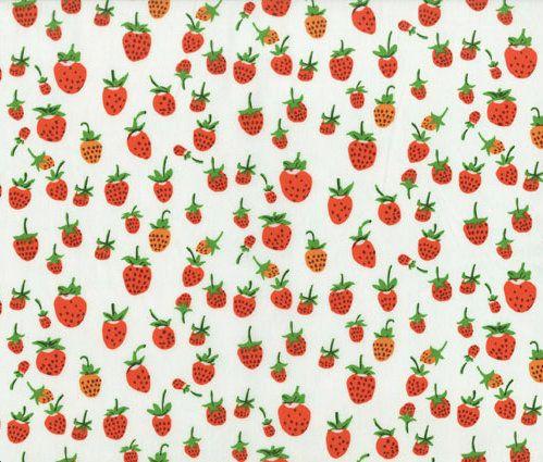 Summery strawberry fabric