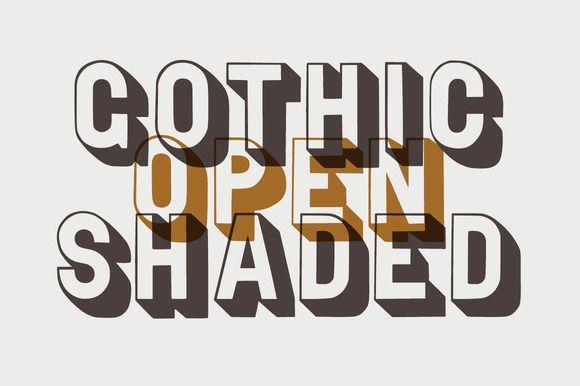 Stylized typography sample