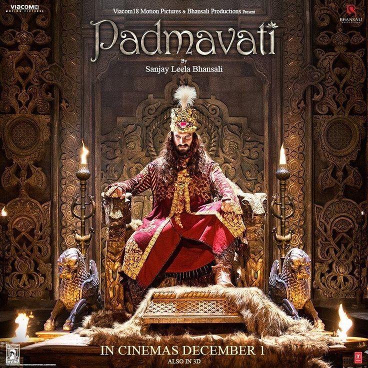 Padmavati poster: Ranveer Singh as Alauddin Khilji