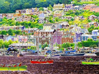 "Saatchi Online Artist TOULA MAVRIDOU-MESSER; Photography, ""Pop Art  - Dartmouth Boats"" #art"