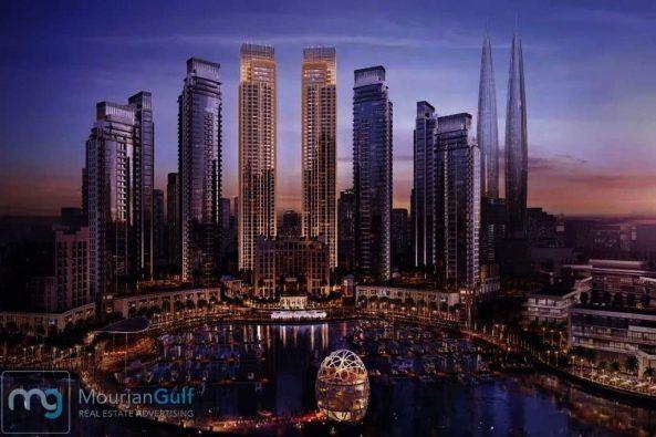 شقق في دبي بالموقع الأفضل على الاطلاق خور دبي الداون تاون الجديد مع اطلالة على أطول برج بالعالم اطلالات بحرية مباشرة ع البحر New York Skyline Skyline Travel