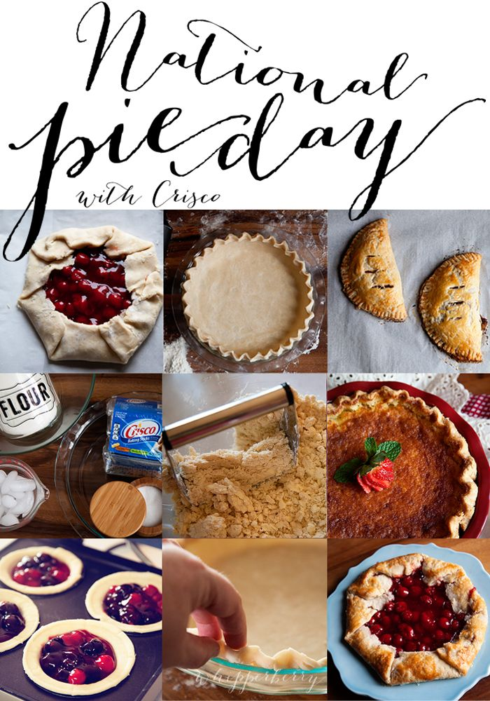 My Favorite Pie Crust Recipe to Celebrate National Pie Day // GIVEAWAYPies Crusts Recipe, Cookbooks Giveaways, Recipe Desserts, Favorite Pies, Celebrities National, Pie Crusts, Crisco Pies, National Pies Day With Crisco, Nationale Pies Day With Crisco