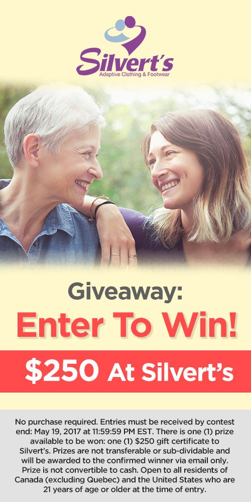 Giveaway Contest: Enter to Win $250 at Silvert's Adaptive Clothing! – Giving Care by Silvert's