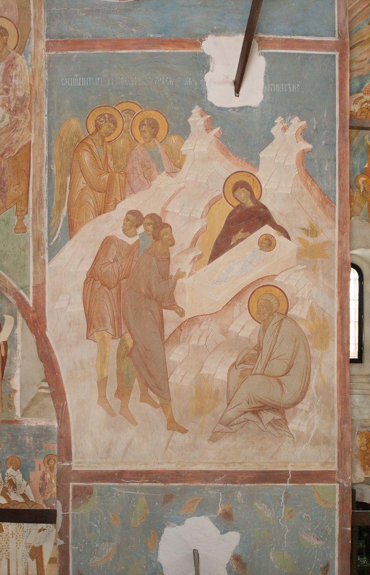 Рождество Христово Разрез по центральному продольному нефу. Вид на север