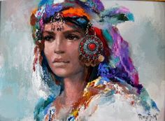 By Remzi Iren Ege-Yörük Head-dress painting