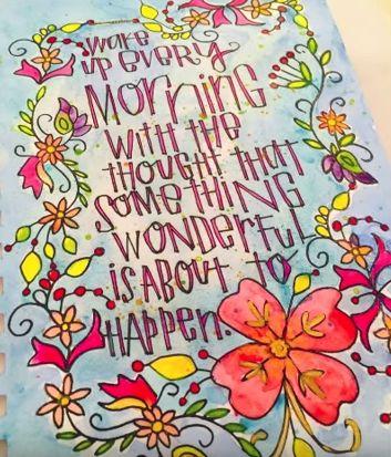 Something Wonderful Art Journal Page