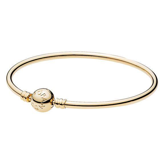 14K Gold Bangle Bracelet PANDORA Jewelry