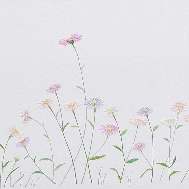 #야생화자수 #단양쑥부쟁이 #쑥부쟁이 #꿈소 #꿈을짓는바느질공작소 #자수 #embroidery #handembroidery #embroideryart #needlework #stitchart #dmc #wildflowers #aster #chrysanthemum #handmade