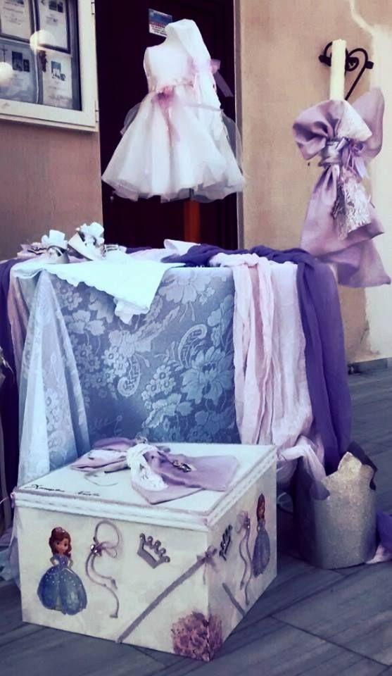Ξύλινα Κουτιά - Τσάντες - Πακέτα Βάπτισης : πακέτο βάπτισης Πριγκίπισσα Σοφία