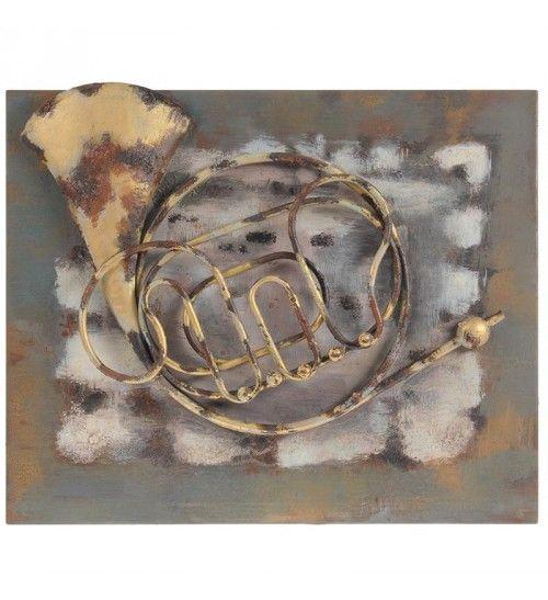 METAL WALL DECOR W_MUSICAL INSTRUMENT  56Χ4Χ47