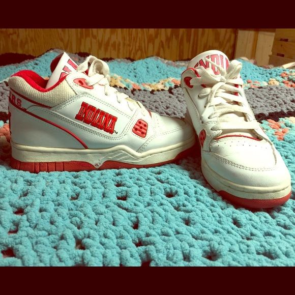 High top INDIANA shoes. Vintage style Iu shoes. Perfect for games! Shoes Athletic Shoes