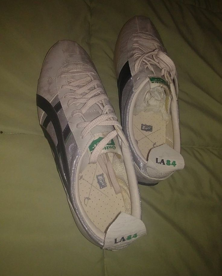 Vintage Rare Onitsuka Tiger by Asics Fencing LA 84 Sneakers 12 White-Silver Shoe | eBay