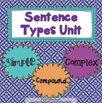 Sentence Structure Unit: Use this 28 page pack (+ 45 slide game) to teach Simple, Compound, and Complex sentences. It will take you from the very beginning stages of introducing the topic with guided notes to a fun, fast paced power point review game.