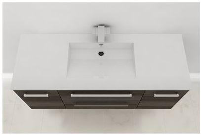 Wall Hung Vanity, Top View - ZAMBUKKA #vanity #drawers #sink #darkcabinets #darkwood #bathrooms #interiordesign #renovations #CutlerKitchenandBath