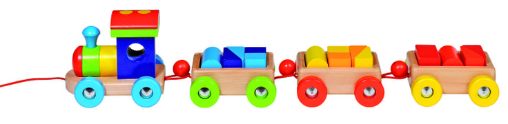 Natural and high quality toys to the development of the skills of children.  Train Orlando, with14 building bricks