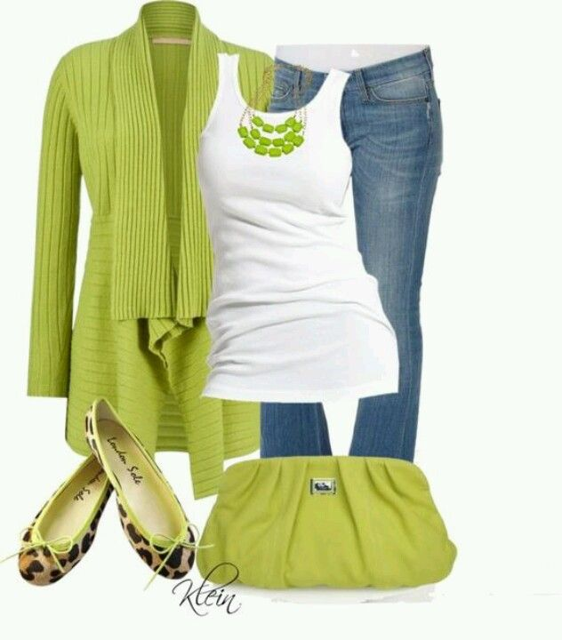 lovely neon green outfits