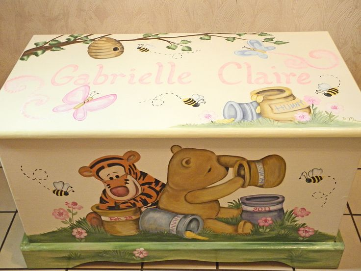 winnie the pooh toy chest with child's name on them - Bing images                                                                                                                                                                                 More