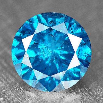 .31 ct Natural Diamond Blue Round Cut Loose