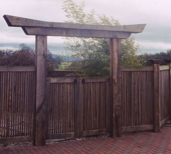japanese gates and entrances | The entrance to the garden is through timber gates and arch ...