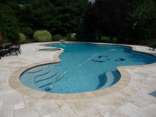 freeform swimming pool design wish this was yours. beautiful ideas. Home Design Ideas