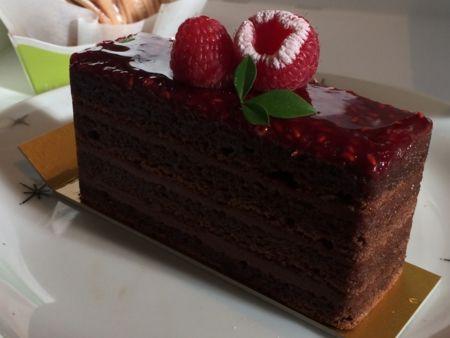 最強の組み合わせフランボワーズのチョコレートレイヤーケーキ(*˘︶˘*).。.:*♡