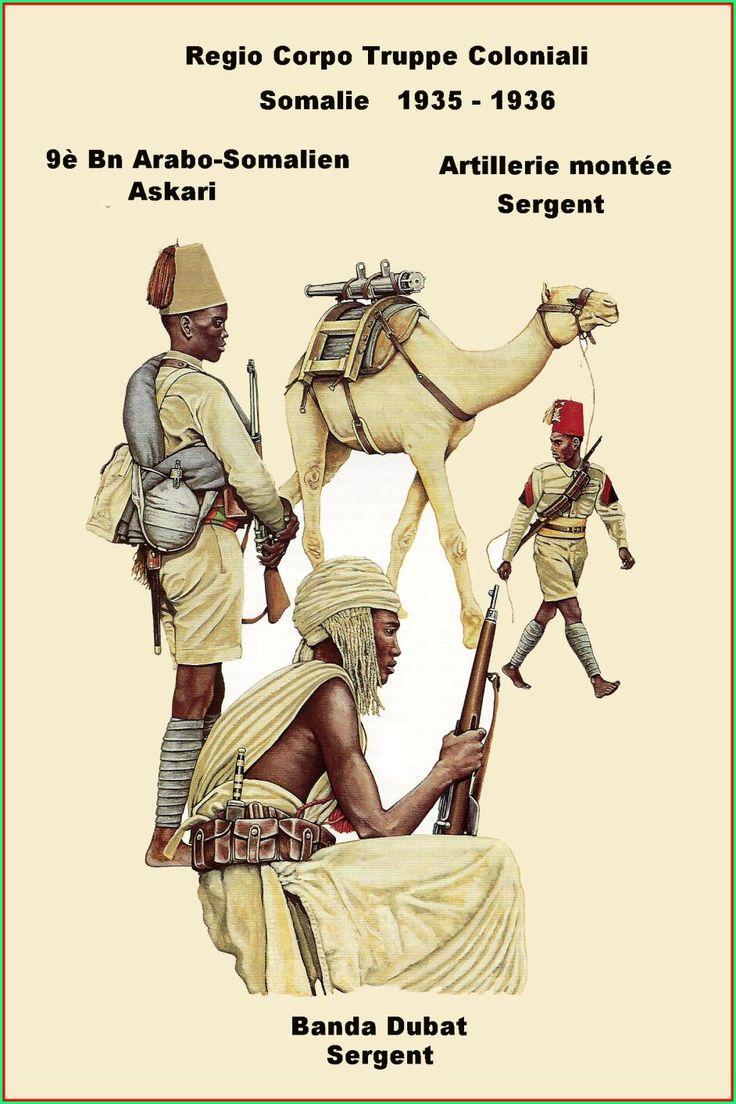 Regio Corpo Truppe Coloniali, Somalia Guerra Italo Etiope 1935- 36