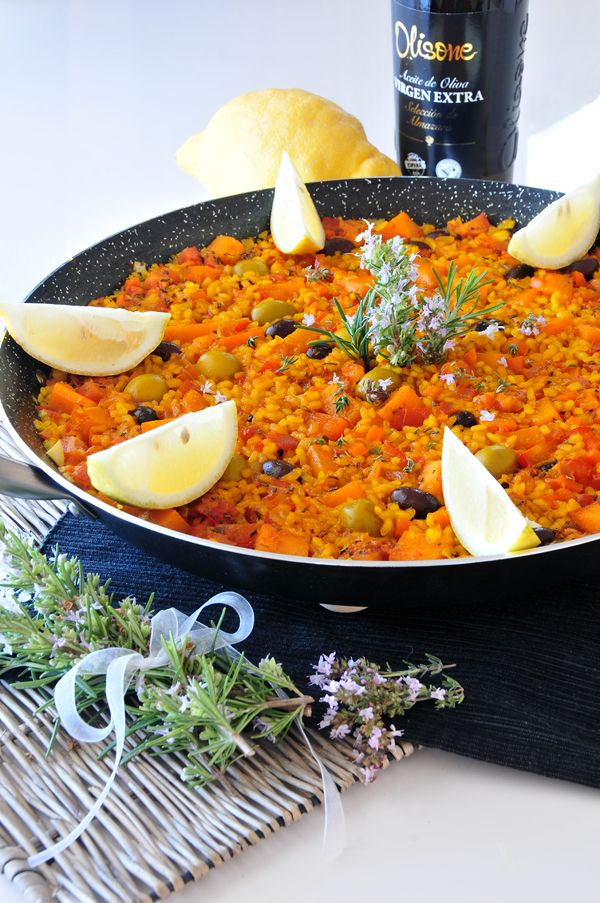 Kürbis Paella vegan und fructosearm histaminarm