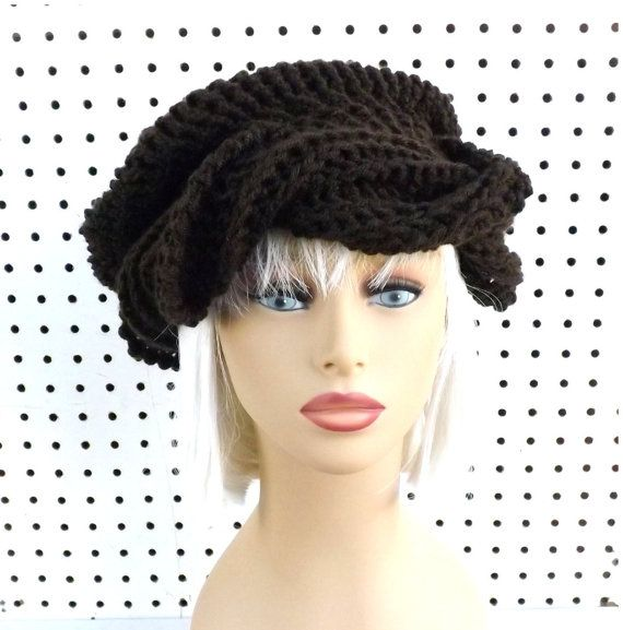 Coffee Brown Crochet Hat Womens Hat Womens Crochet Hat Womens Turban Hat Coffee Brown Hat SAMANTHA Turban Hat Crochet Hat by strawberrycouture by #strawberrycouture on #Etsy
