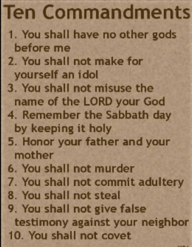 Ten Commandments Quotes: The Ten Commandments Of God
