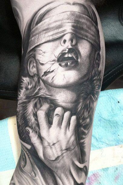 Face Sleeve Tattoo: Face Tattoo By Josh Duffy Tattoo