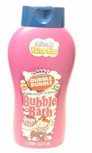 Original Dubble Bubble Grape Scented Bubble Bath Extra Large Liter Bottle 33.8 Oz by Dubble Bubble. $9.89. age 3+. paraben free. original scent of double bubble grape. 1 litre bottle 33.8 oz.. pediatrician approved. Double bubble bubble bath makes bathtime a double fun time. Specially crafted Double-Bubble-iscious formula, scented like the original bubblegum for big and little kids.