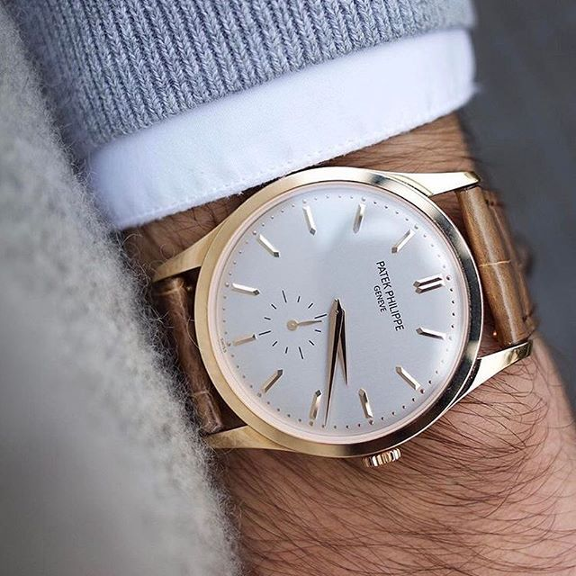 Wrist perfection by @thehorokee with the Patek Philippe Calatrava 5196r