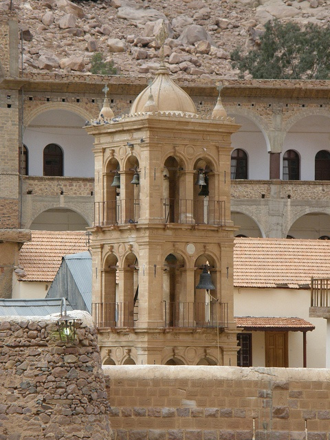 Saint Catherine's Monastery Campanile by Roderick MacKenzie, via Flickr. St. Catherine's Monastery in the Sinai, a Greek Orthodox community, is the most famous in Egypt.