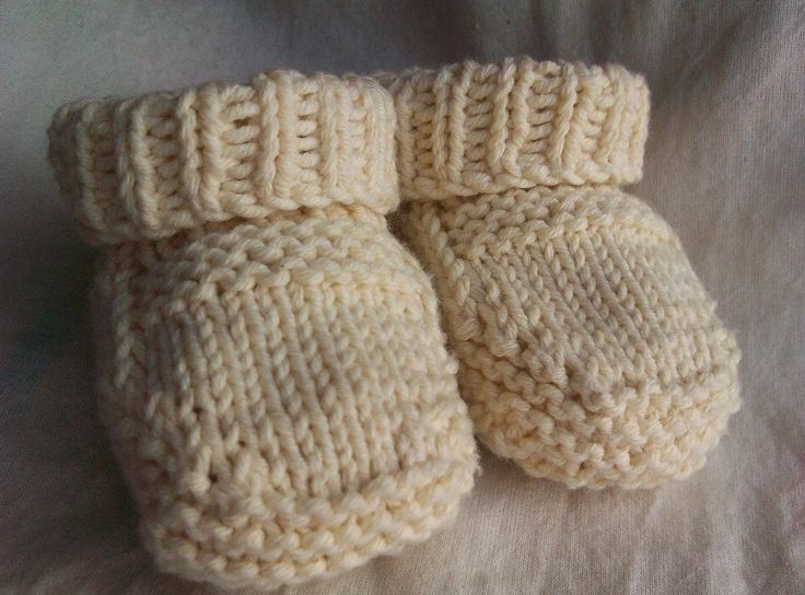 Knitting Patterns By Yarn Weight : Baby Bootie Knitting Pattern Worsted Weight Yarn