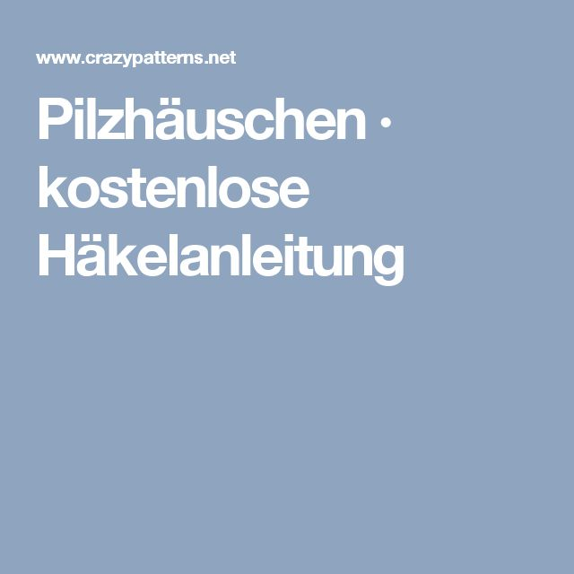 8 best Pilz images on Pinterest   Pilze, Amigurumi und Anleitungen