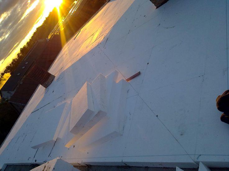 Styropianowy dach spadkowy