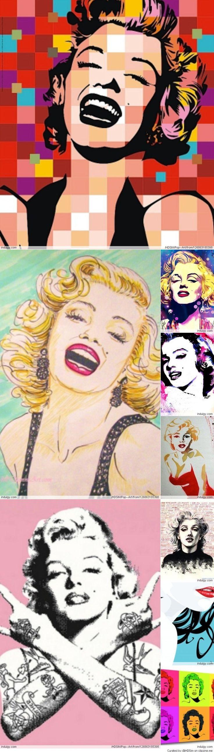 @PinFantasy - Marilyn Pop Art ~~ For more:  - ✯ http://www.pinterest.com/PinFantasy/gente-~-marilyn-monroe-art/