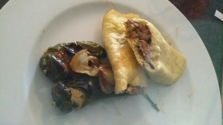 Cauliflower tortilla with beef fillet filling, and roast jalapeños cream cheese filling.