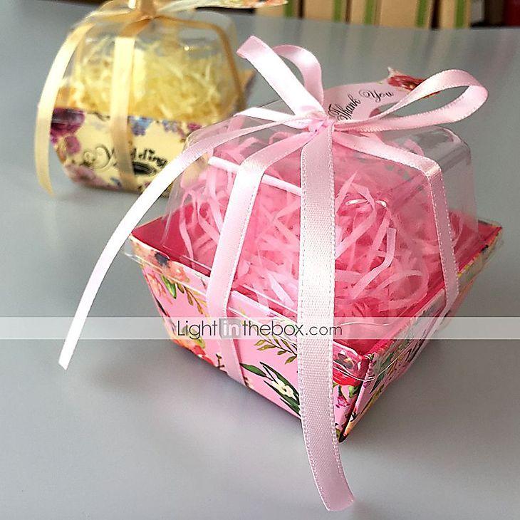 Boîtes Cadeaux(Jaune / Lilas / Rose / Rouge,Papier durci / Plastique)Thème…