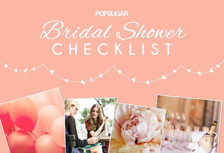 how to plan a bridal shower checklist