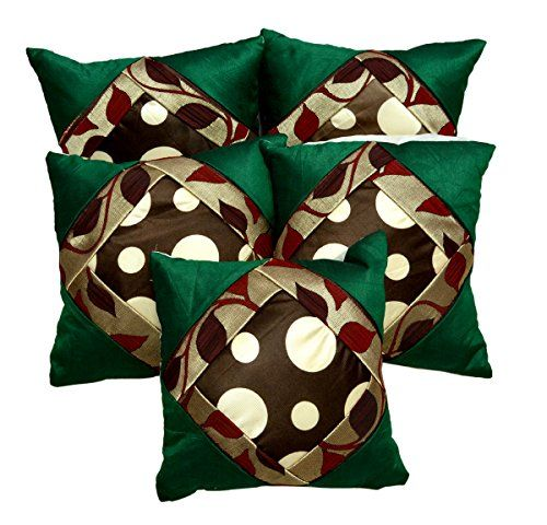 5pcs Green Silk Pillow Covers Indian Modern Luxury Sofa Cushion Covers Krishna Mart India http://www.amazon.com/dp/B010FVH7AY/ref=cm_sw_r_pi_dp_VuILvb1X1RW1E