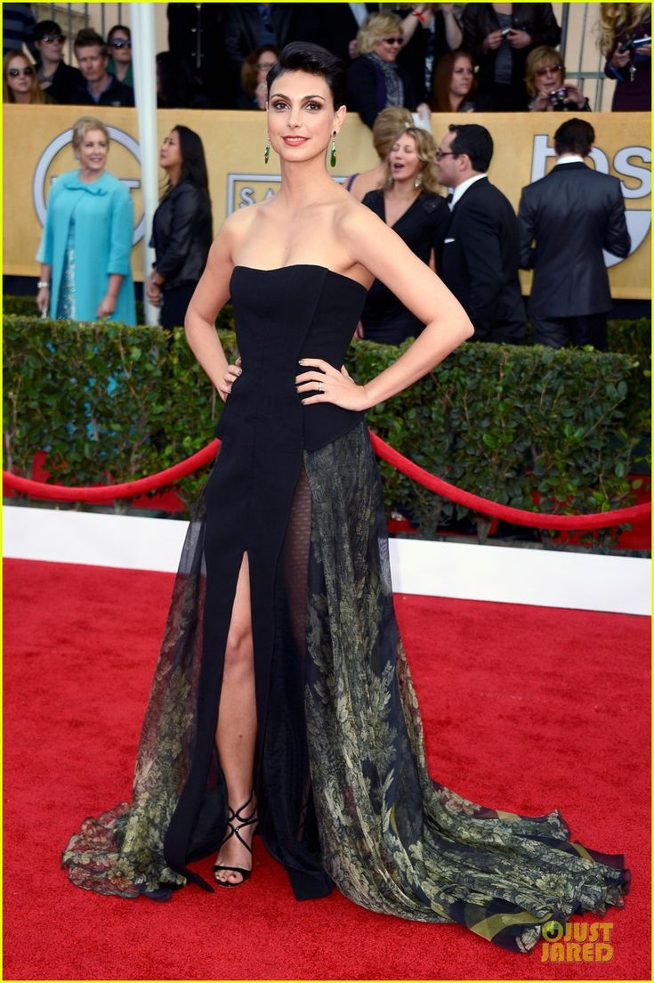 Morena Baccarin is wearing a Basil Soda dress.SAG Awards 2013 Red Carpet