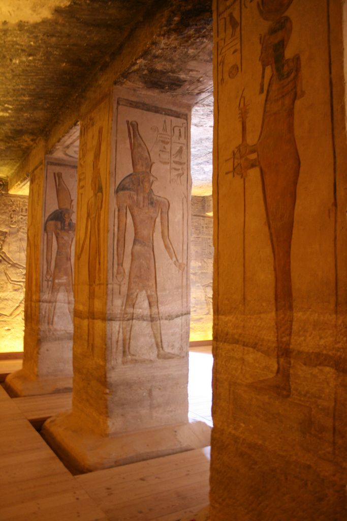 Interior, Small Temple, Abu Simbel, Lake Nasser, Egypt