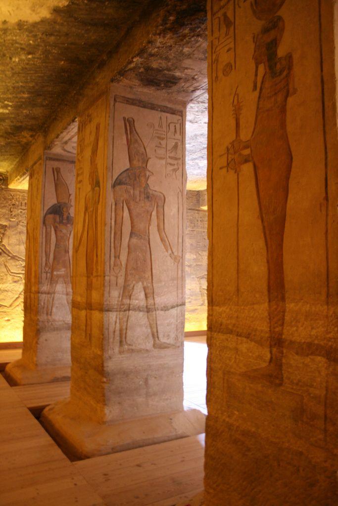 Interior, Small Temple, Abu Simbel, Lake Nasser, Egypt