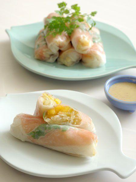 【ELLE a table】生ハムと柿の生春巻きレシピ|エル・オンライン