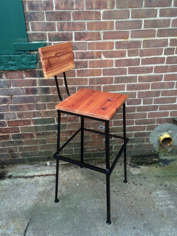 Commercial Bar stool, Bar stool with Back, Square Bar stool