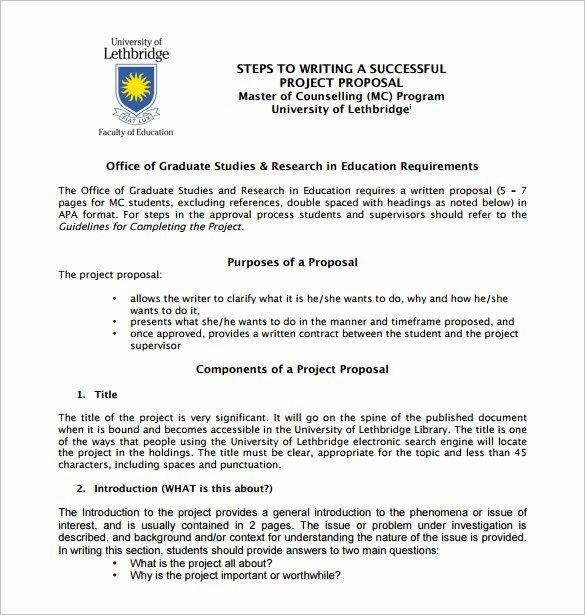 25 Project Proposal Format For Student In 2020 Project Proposal