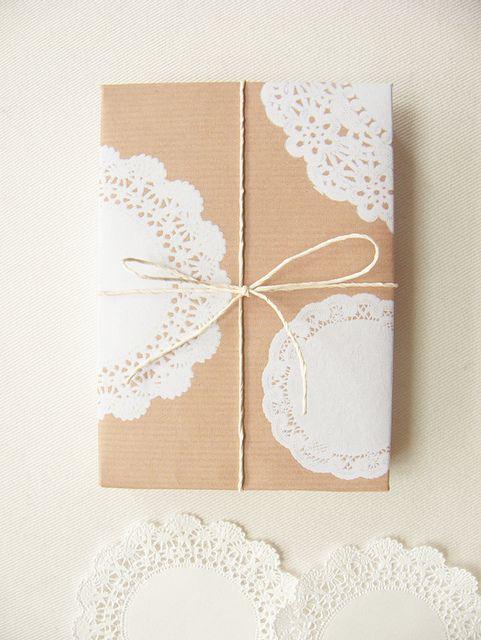 DIY gift wrap idea