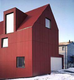 profiled fibre cement panel cladding - Haus Walther - Malans, Switzerland - Bearth & Deplazes Architekten - 2001-02